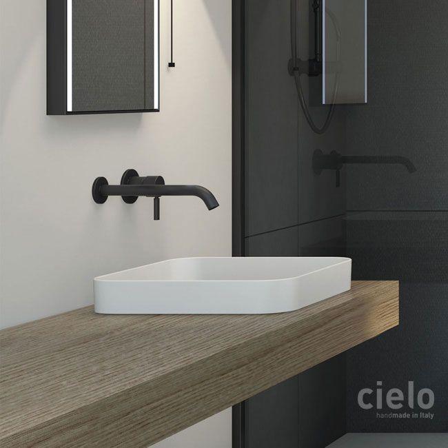 Squared Semi Recessed Washbasin Colored Talco Enjoy Wash Basin Colored Bathroom Ceramica Cielo S Izobrazheniyami Santehnika Rakovina