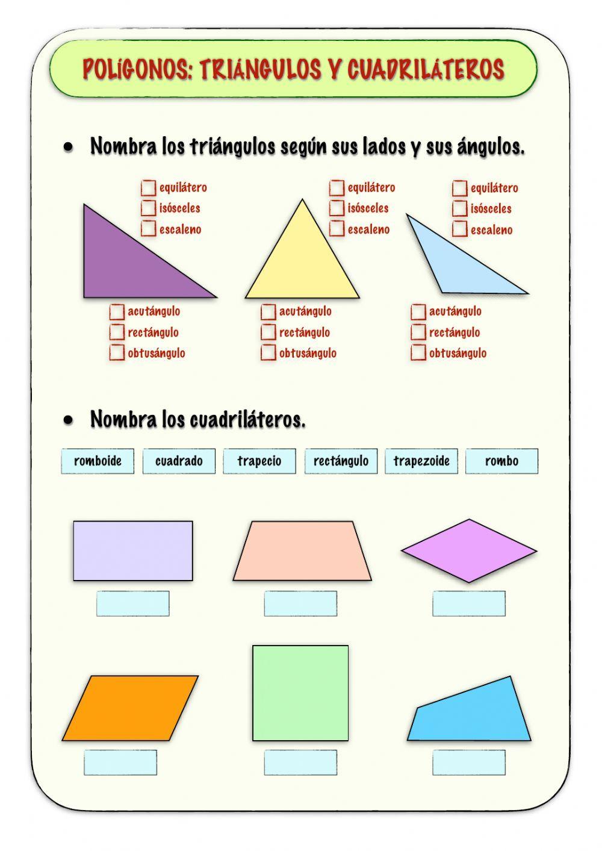 Polígonos Ficha Interactiva Y Descargable Puedes Hacer Los Ejercicios Online O Descargar La Ficha Como Pdf Matematicas Fichas Cuadernos Interactivos