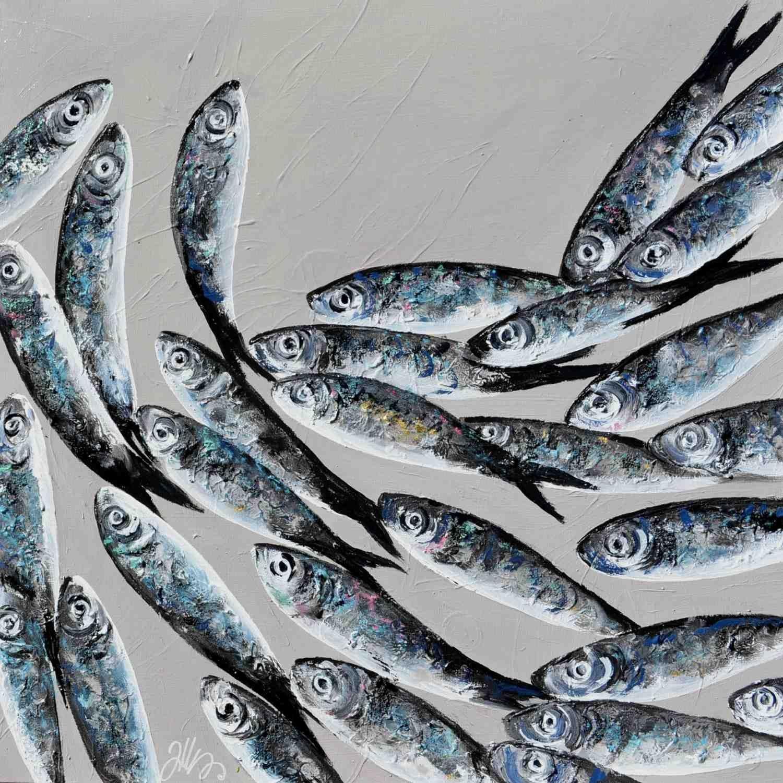 Felix murillo lleno de colores painting acrylic artwork fish art - Peintures Poissons Drag Es Fish Illustrationribefish Artart