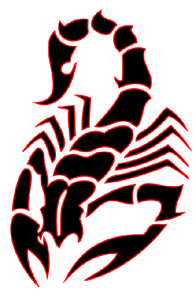 Red And Black Tribal Scorpion Tattoo Design Scorpion Tattoo Vintage Tattoo Tattoos