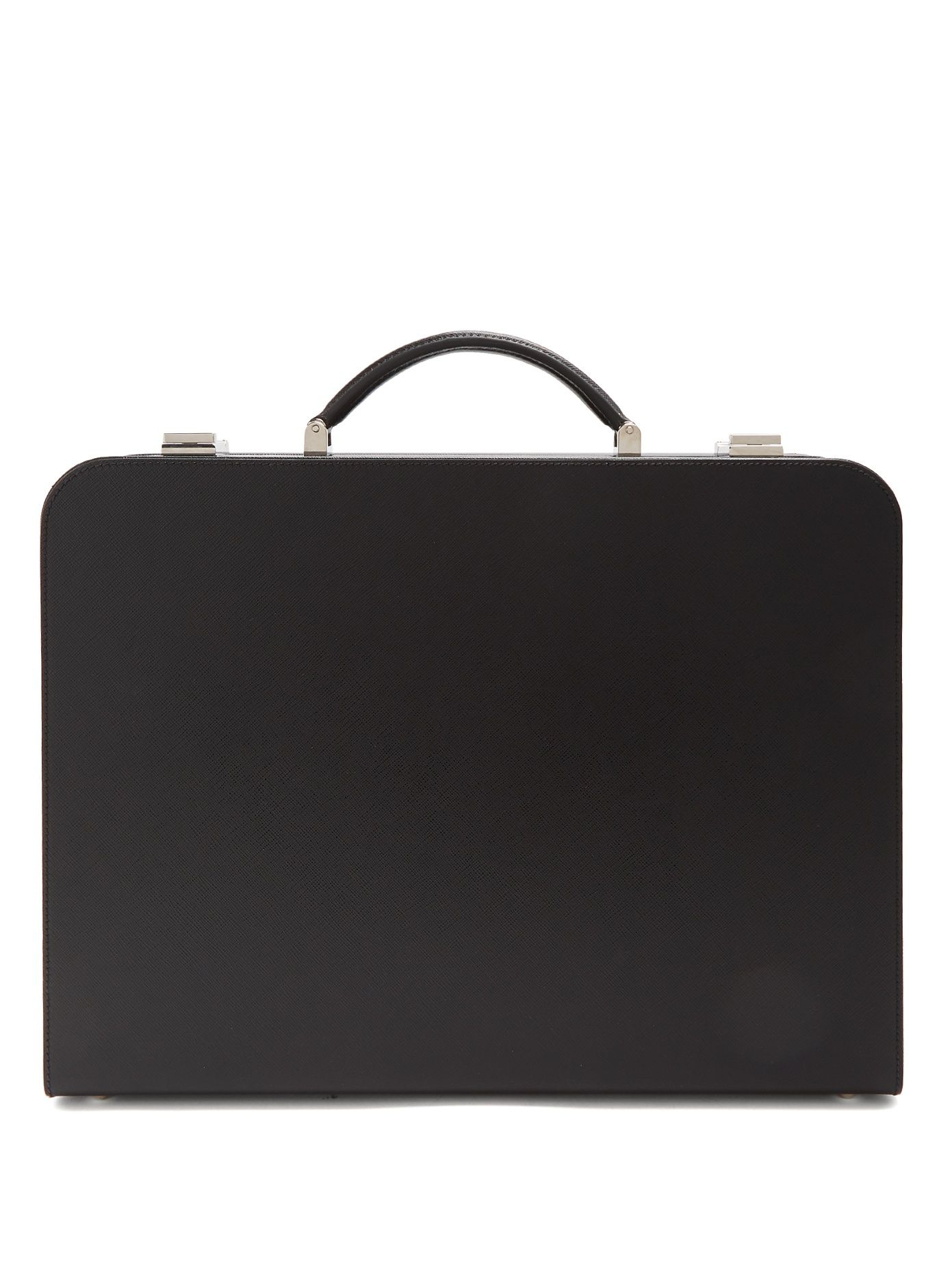 f34ba7d18834a5 Click here to buy Prada Top-handle saffiano-leather briefcase at  MATCHESFASHION.COM