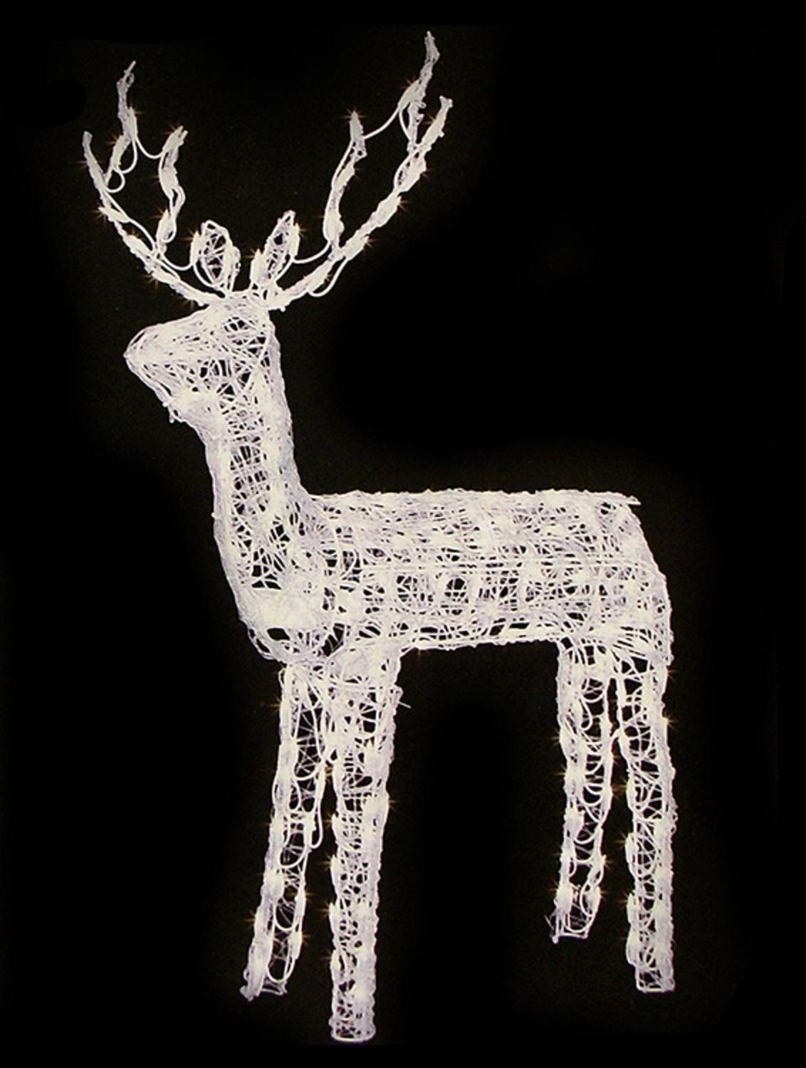 48 animated crystal 3 d standing buck reindeer lighted christmas yard art decoration clear lights you can get more details by clicking on the image