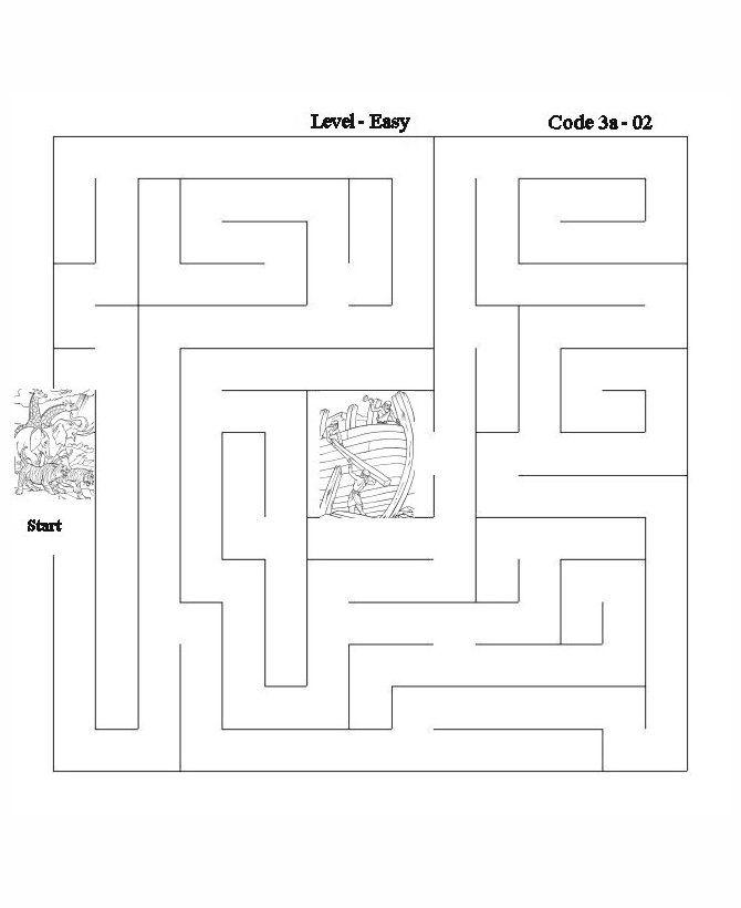 Bible Lesson Activity Maze 2