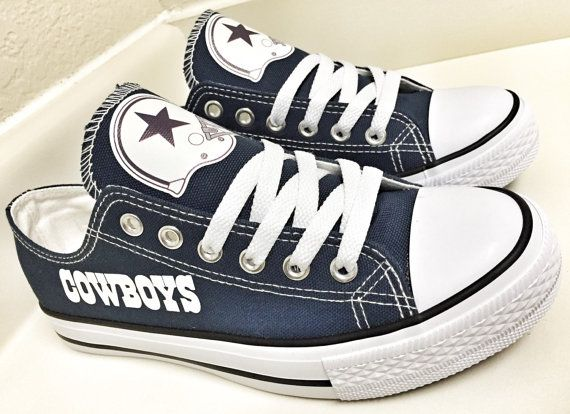 size 40 499bd a8a4a CUSTOM DALLAS COWBOYS Womens   Mens canvas tennis shoes, If you have any  questions feel free to ask me. They are made to order, My WOMENS shoes run  a brief ...