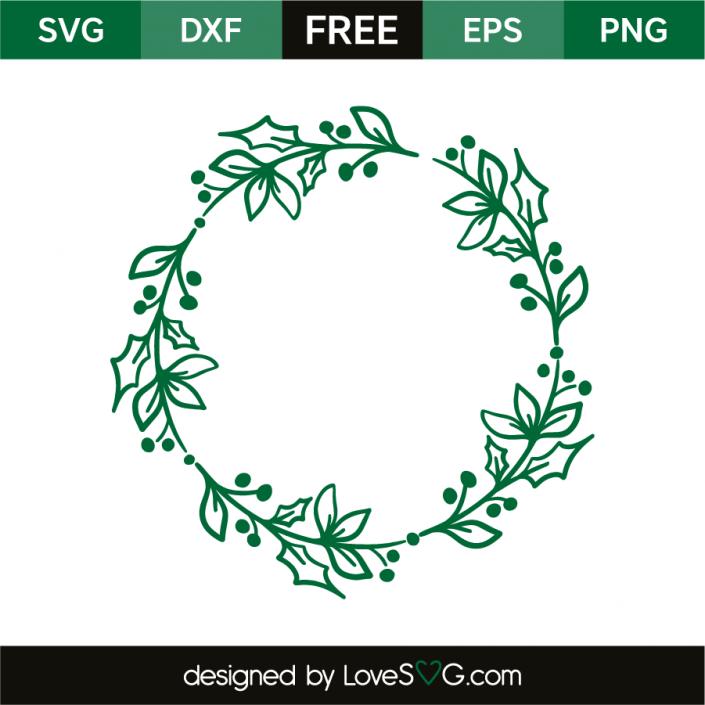 Wreath mistletoe leaf Silhouette mint