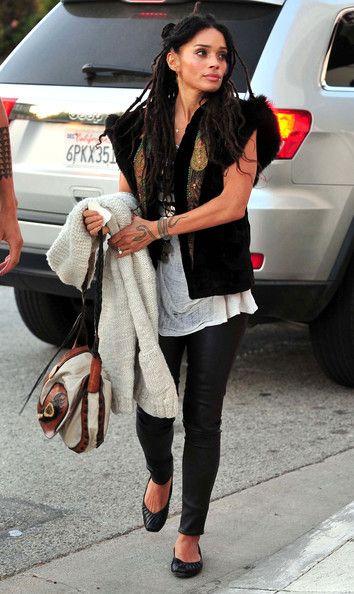 More Pics of Lisa Bonet Snake Tattoo (1 of 8) - Snake Tattoo Lookbook - StyleBistro