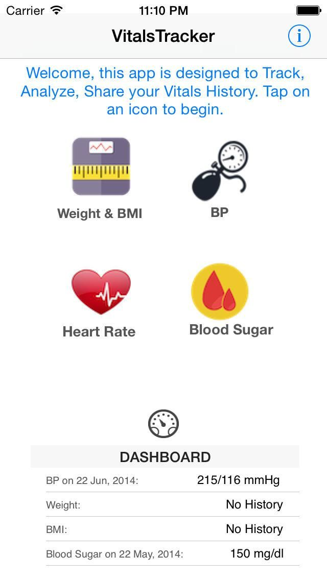 Vitals Tracker app for ios Review & Download .IPA file