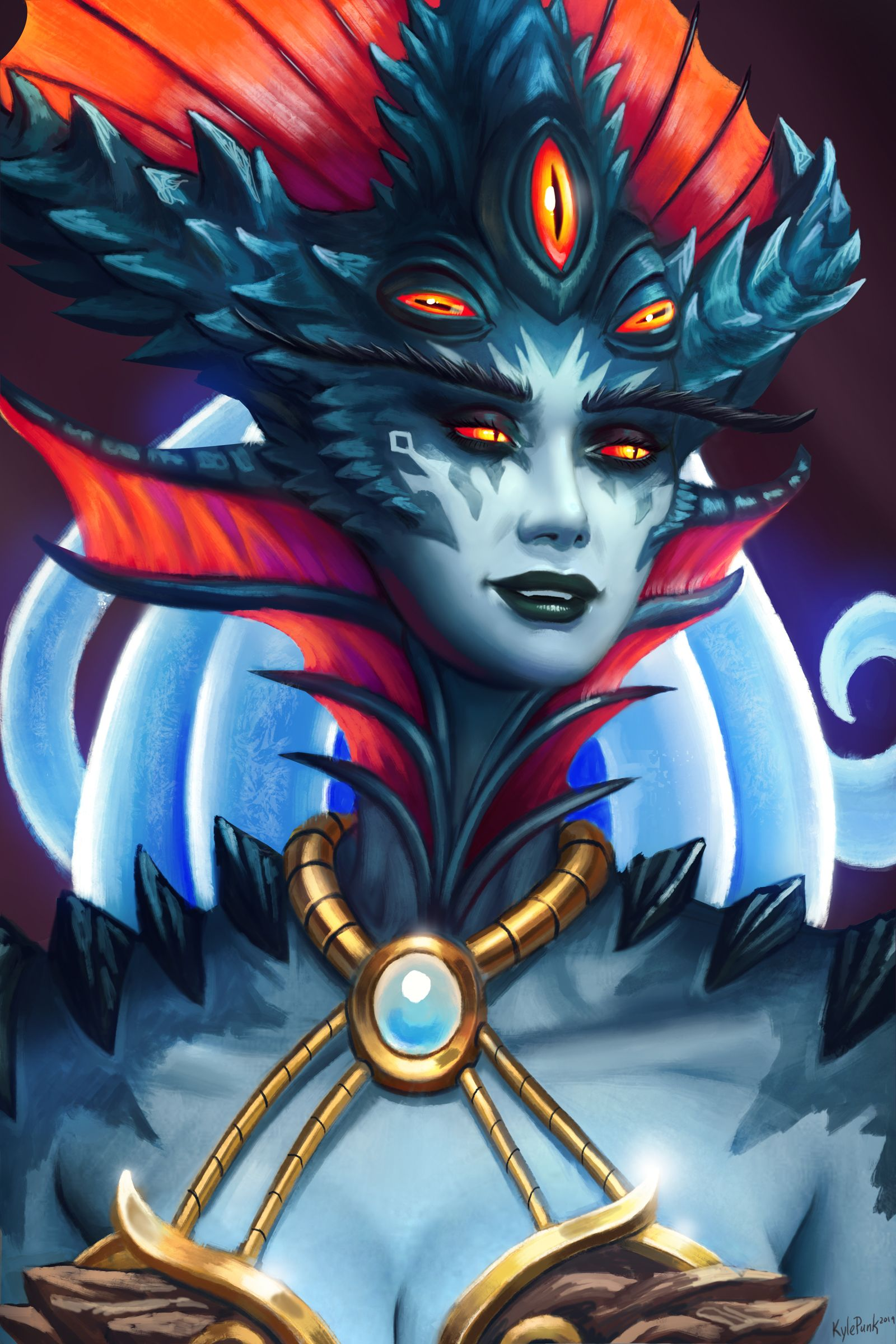Azshara Portrait By Kyle Punk Art Worldofwarcraft Blizzard