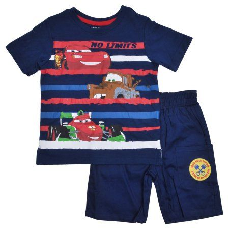 Toddler Disney Little Boys Cars Coat Set -Blue