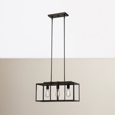 3 Light Kitchen Island Linear Pendant Kitchen Lighting Kitchen Island Pendants Strip Lighting