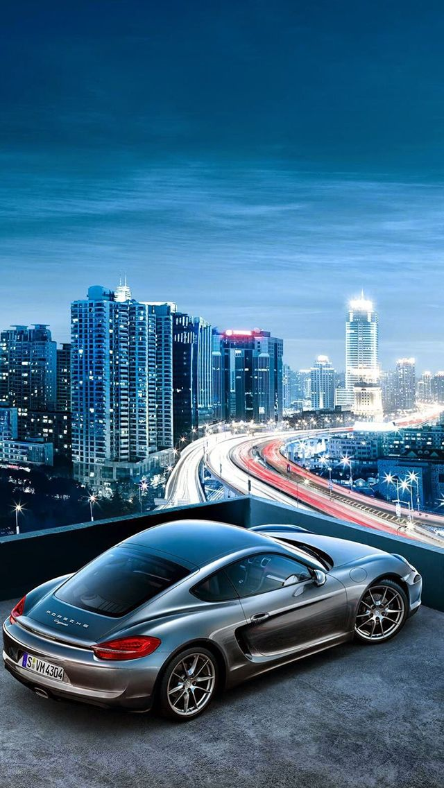 Porsche Cayman City View Iphone Wallpaper Iphone Se