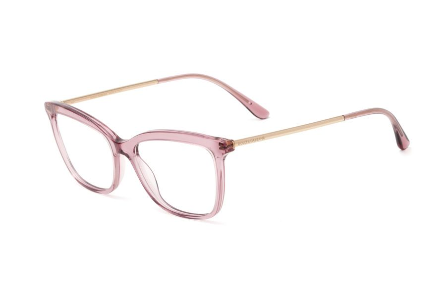 1be037ad4d1 ... gold metal temples and pink transparent acetate tips. Transparent pink  butterfly eyeglasses for women DG3286
