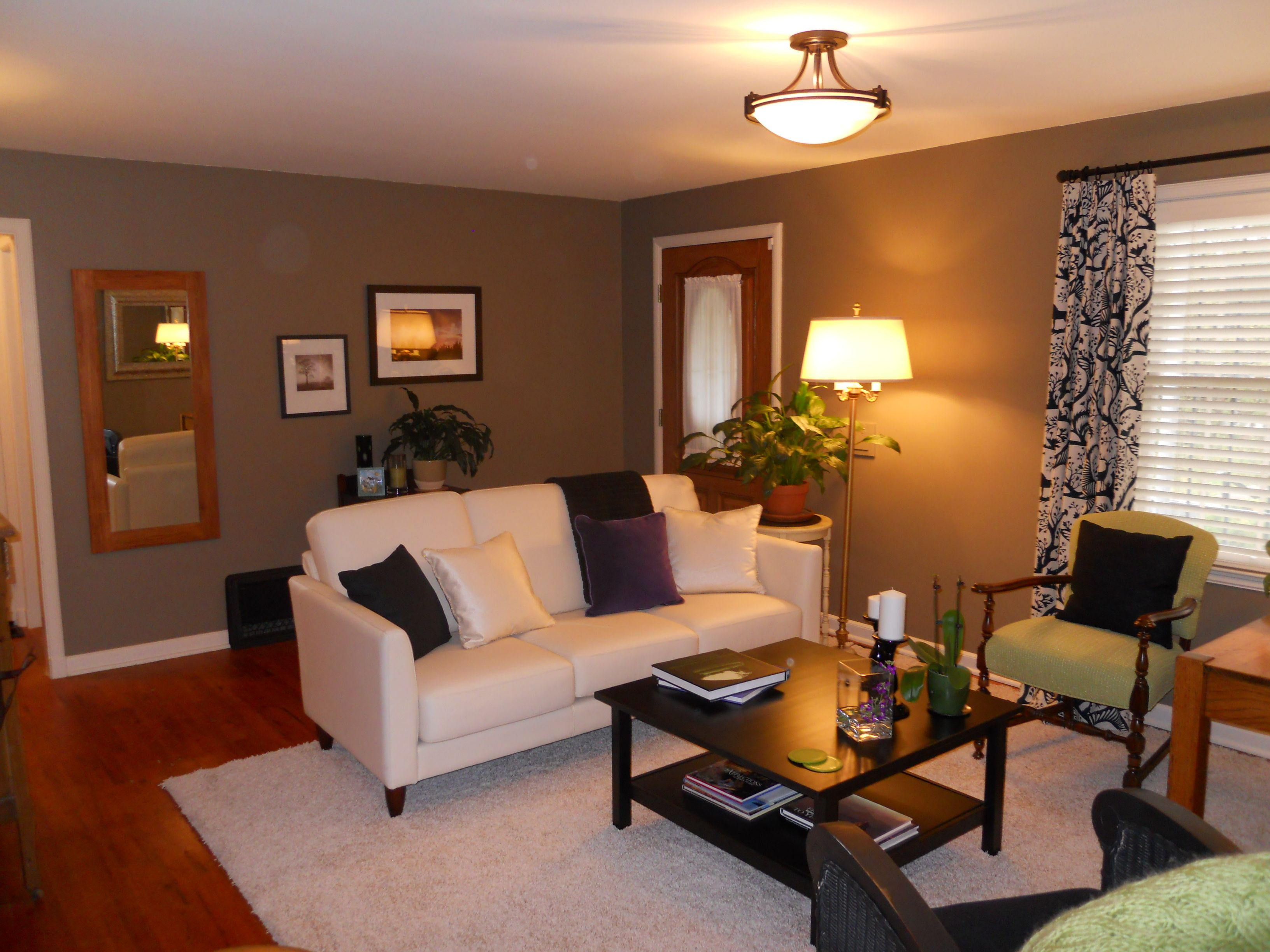 Living Roomlove This Spacetan With Blackwhite Curtains Mesmerizing Tan Living Room Collection Design Ideas