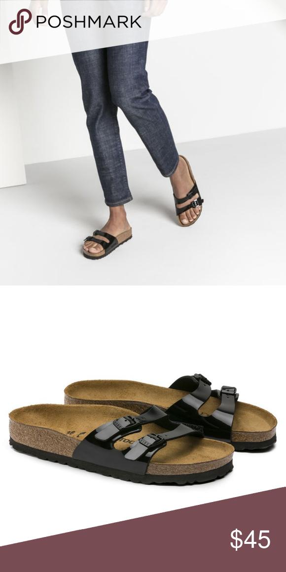 Ibiza Birko flor patent sandals Simple and comfy Birks