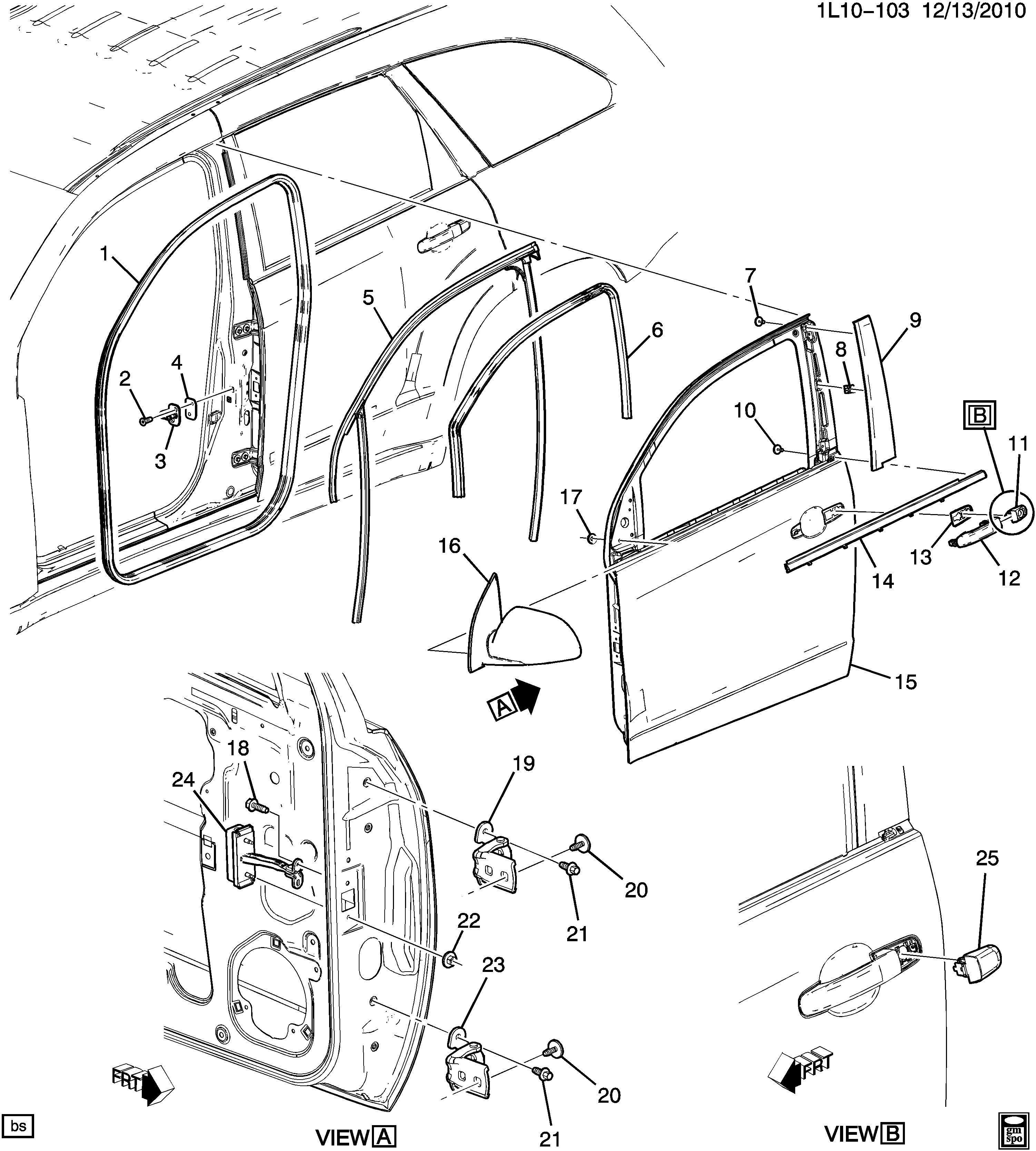 Chevrolet Equinox Lt Door Hardware Front Part 1