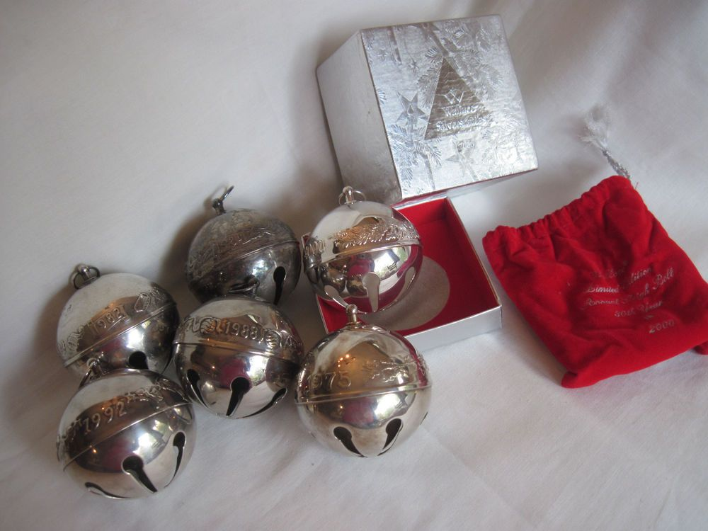 1975, 1982, 1984, 1988, 1992  2000 Wallace Silver Plate Christmas