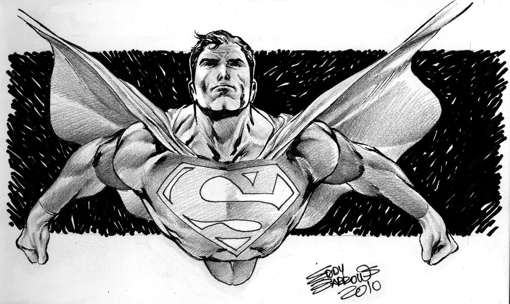 Supermans Sketch By Eddybarrows On DeviantArt