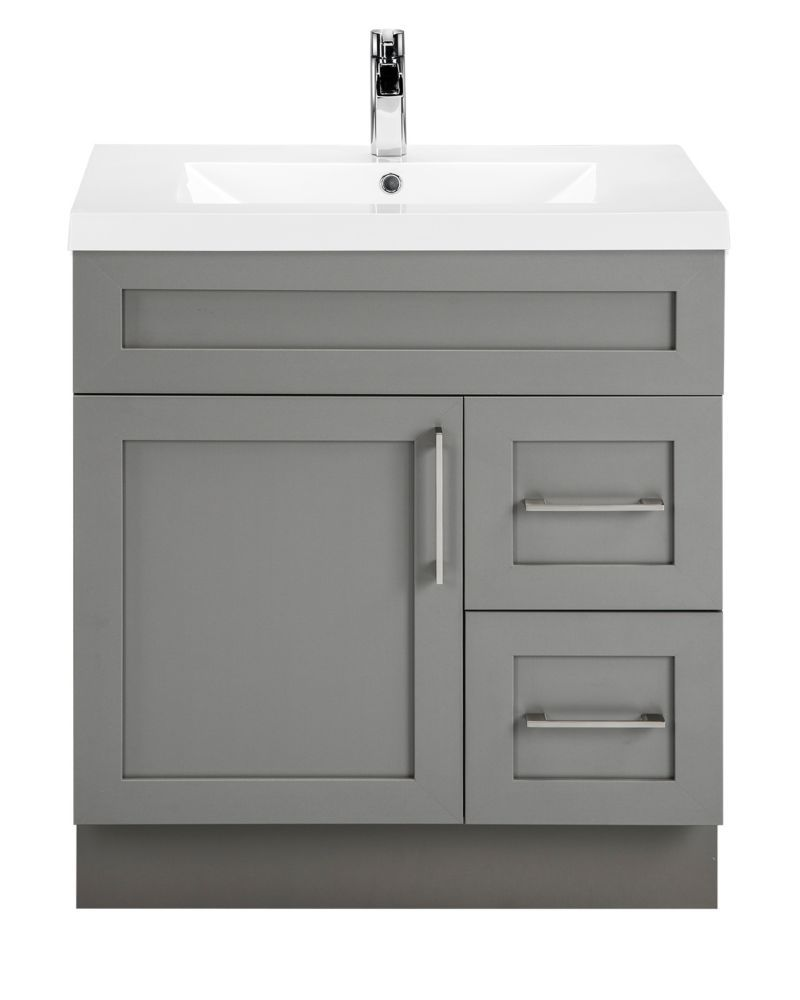 Best Fossil 30 Inch W 2 Drawer 1 Door Freestanding Vanity In 400 x 300