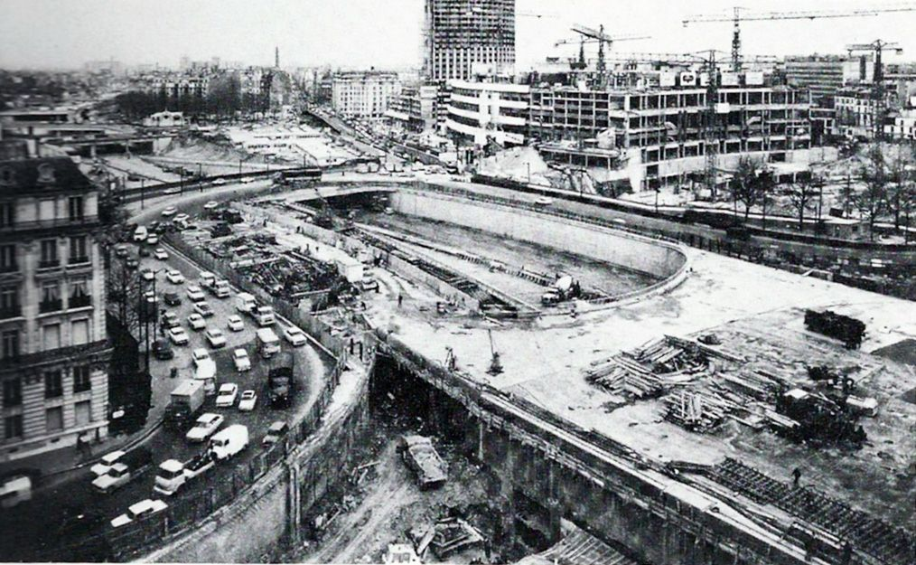 1960 construction du p riph rique porte maillot travaux for Porte maillot in paris