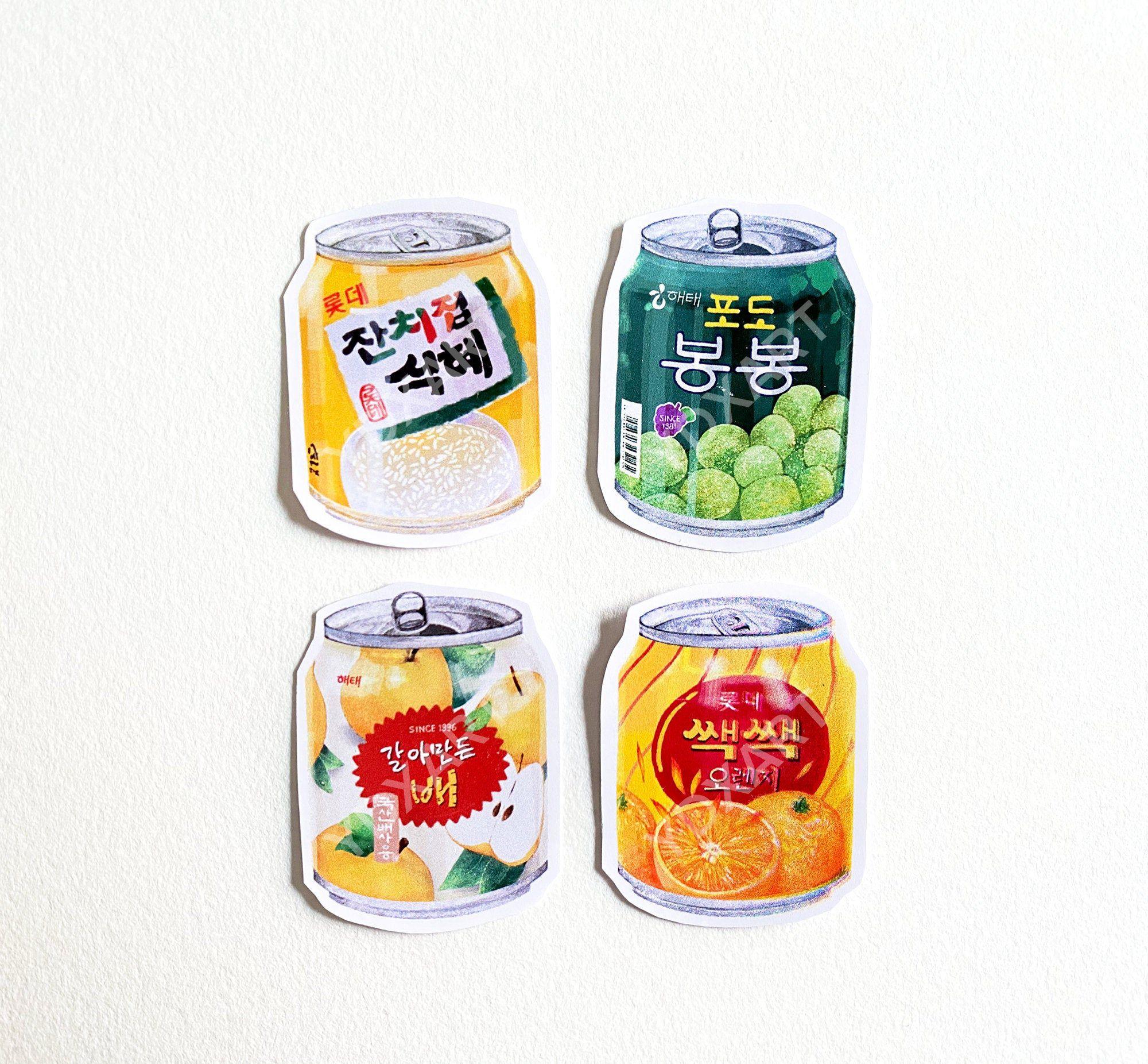 Vinyl Korean Drinks Stickers, Die Cut, Asian Food, Crafts, Scrapbooking, Cute Food, Planner Stickers, Bullet Journal, Laptop Stickers, Bujo