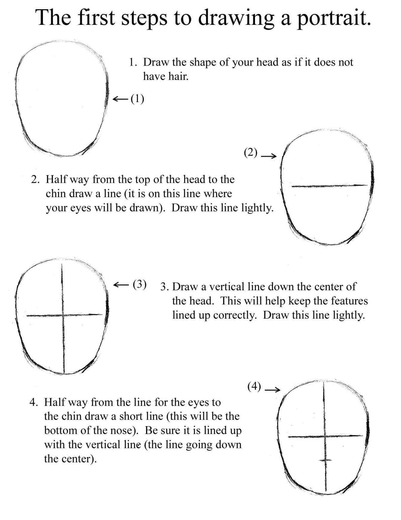 Drawing Facial Features Worksheet