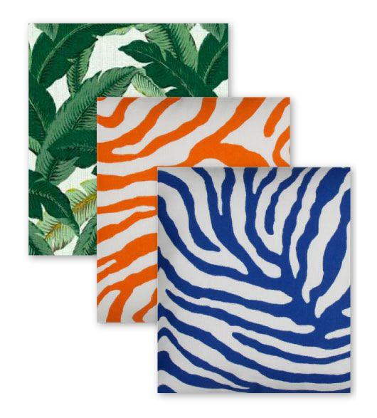 Outdoor Blue Zebra Orange Zebra And Swaying Palms Aloe Leaves