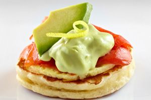 California Avocado, Egg and Smoked Salmon Blini Recipe | California Avocado Commission