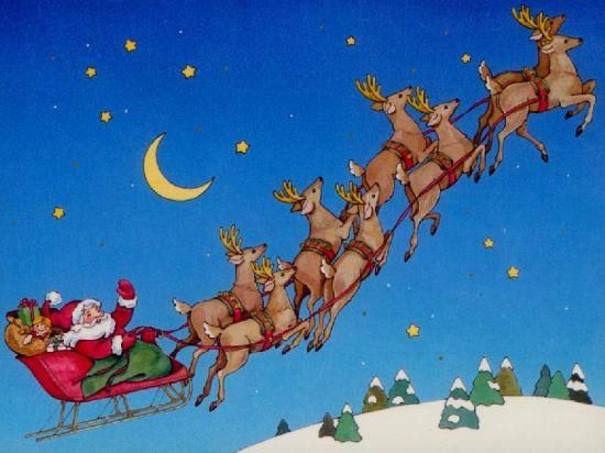 santa clauss reindeer santa claus reindeer and his coming on christmas with sleigh pictures - Santa Claus And Reindeers