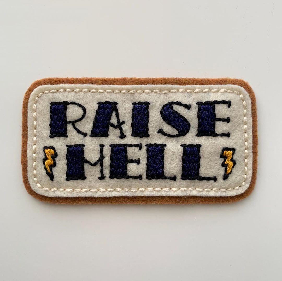 Pin on Embroidered felt patches