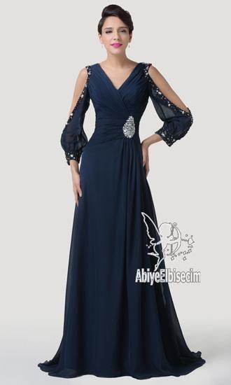 Uzun Mezuniyet Abiyesi Aksamustu Giysileri Elbise Elbiseler
