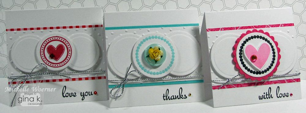 Stop and Stamp the roses: Trio of note cards