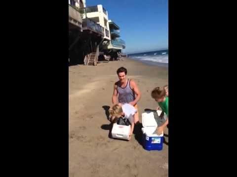 Matt Bomer accepts ALS Ice Bucket Challenge with his kids' help