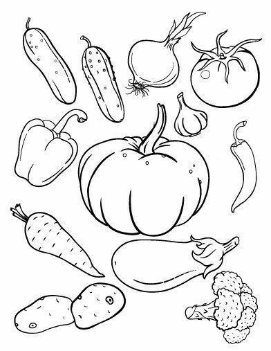 Детские раскраски Овощи и Фрукты | OK.RU в 2020 г ...