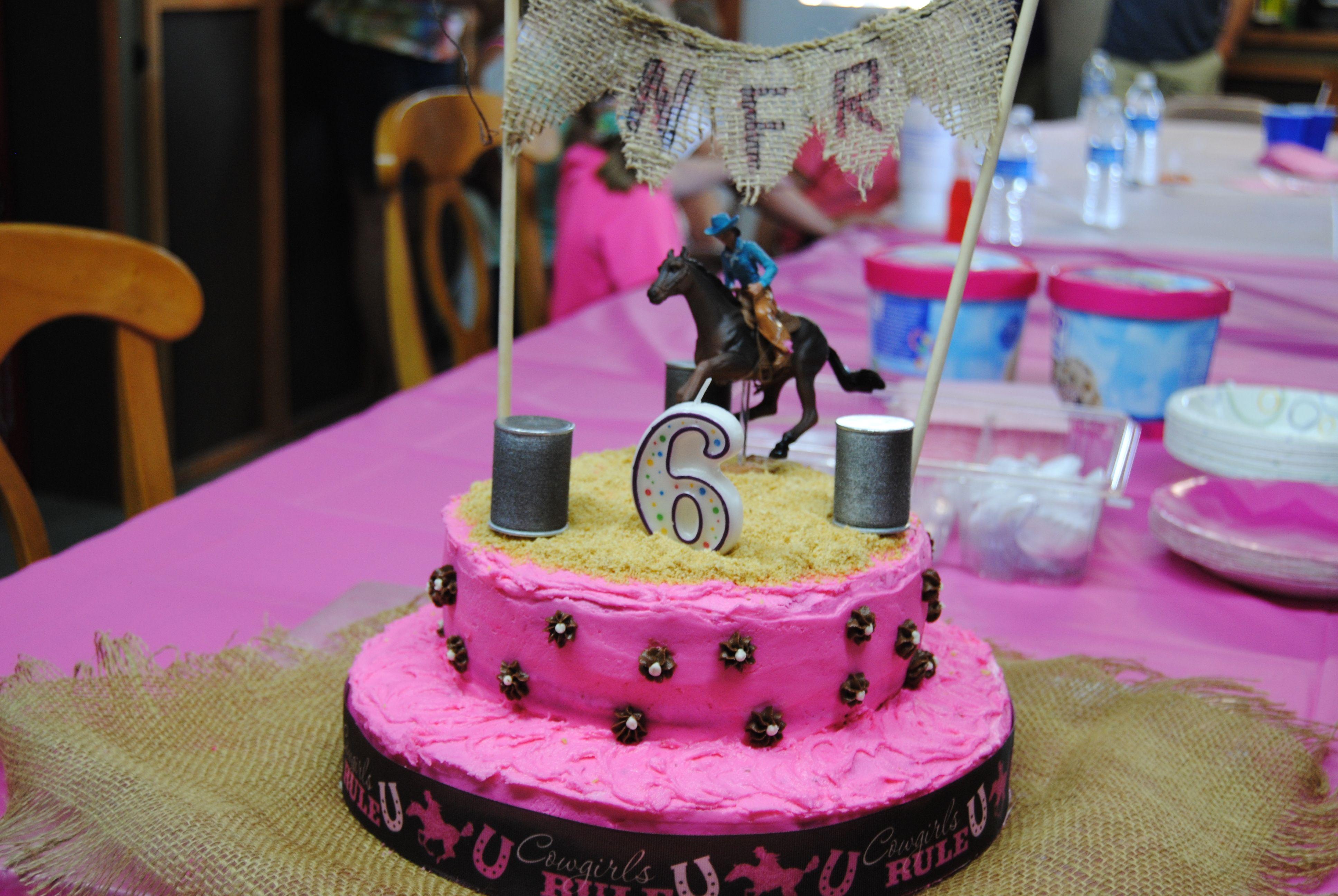 Cowgirl Barrel Racing Birthday Cake Horse Birthday Cake Barrel