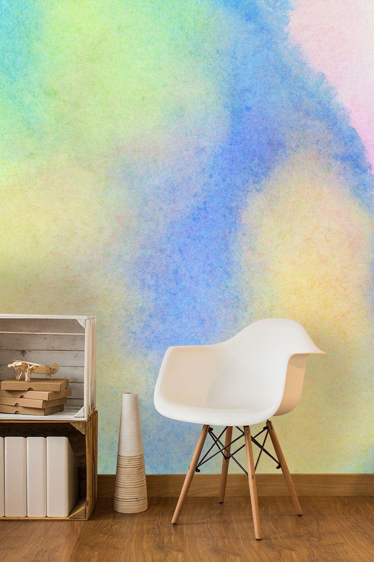 Spectrum watercolor wall mural watercolor wallpaper spectrum and