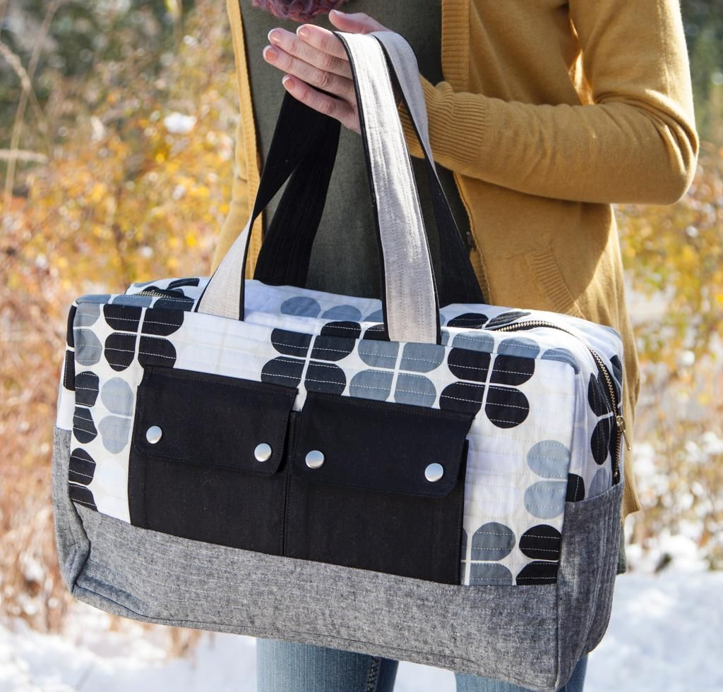 Do the Duffel! 7 Stylish Duffel Bag Patterns You Can Sew in a ... : quilted duffle bag pattern free - Adamdwight.com