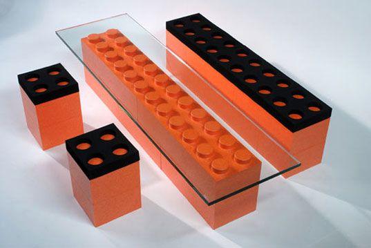 Lunablocks Modular Lego Furniture Life Size Pieces Luna Blocks Design Table Chair Sofa Stool