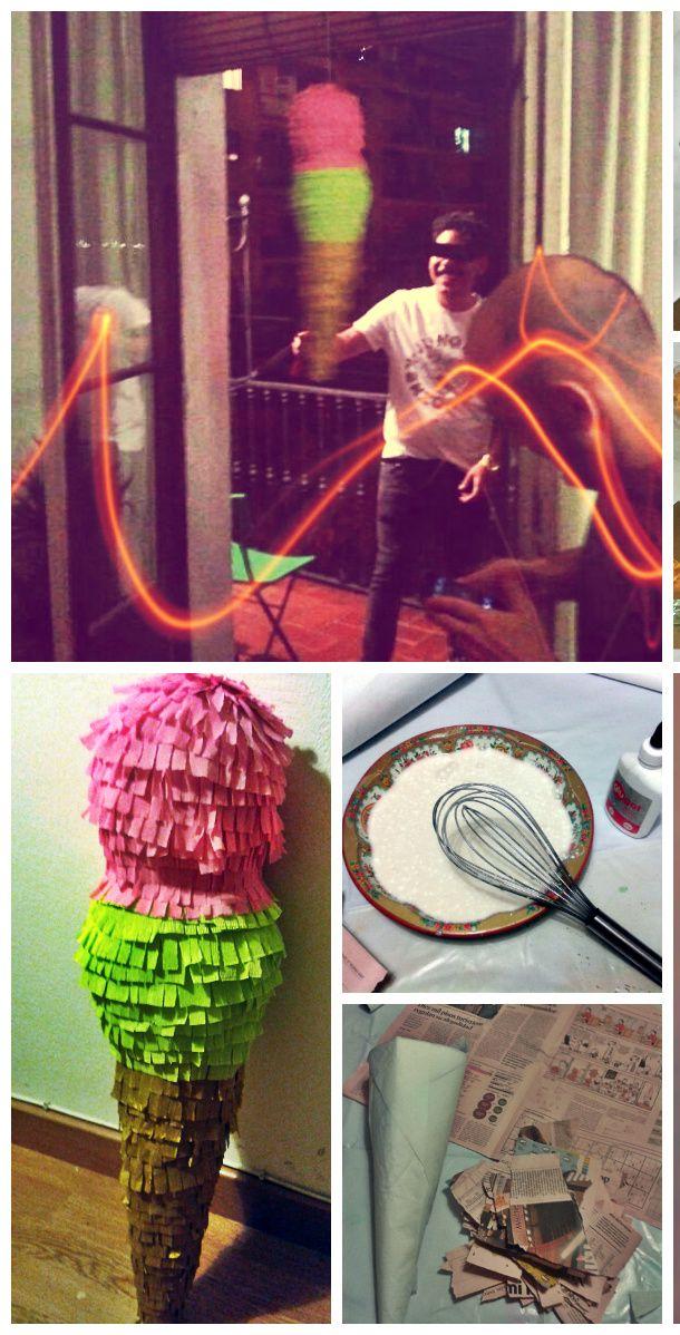 ice cream piñata birthday parties