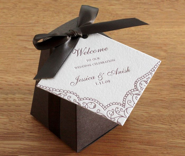 wedding favor tags small gifts favor boxes dark brown gift bags fall ...