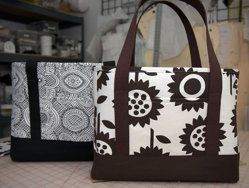 Tote tutorial......use the strap material from grandma