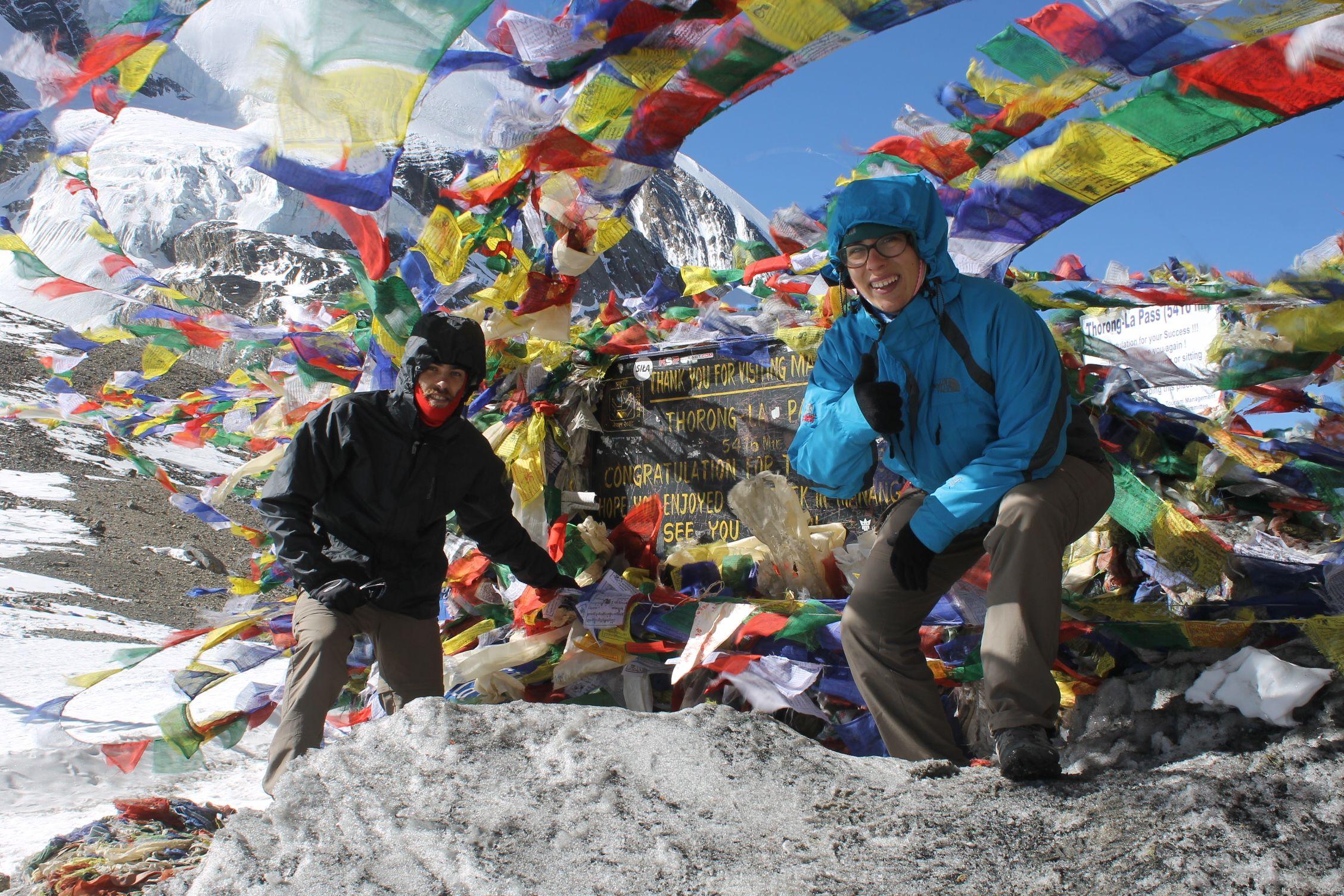 En Thorung La Pass, muy orgullosos de nuestro éxito