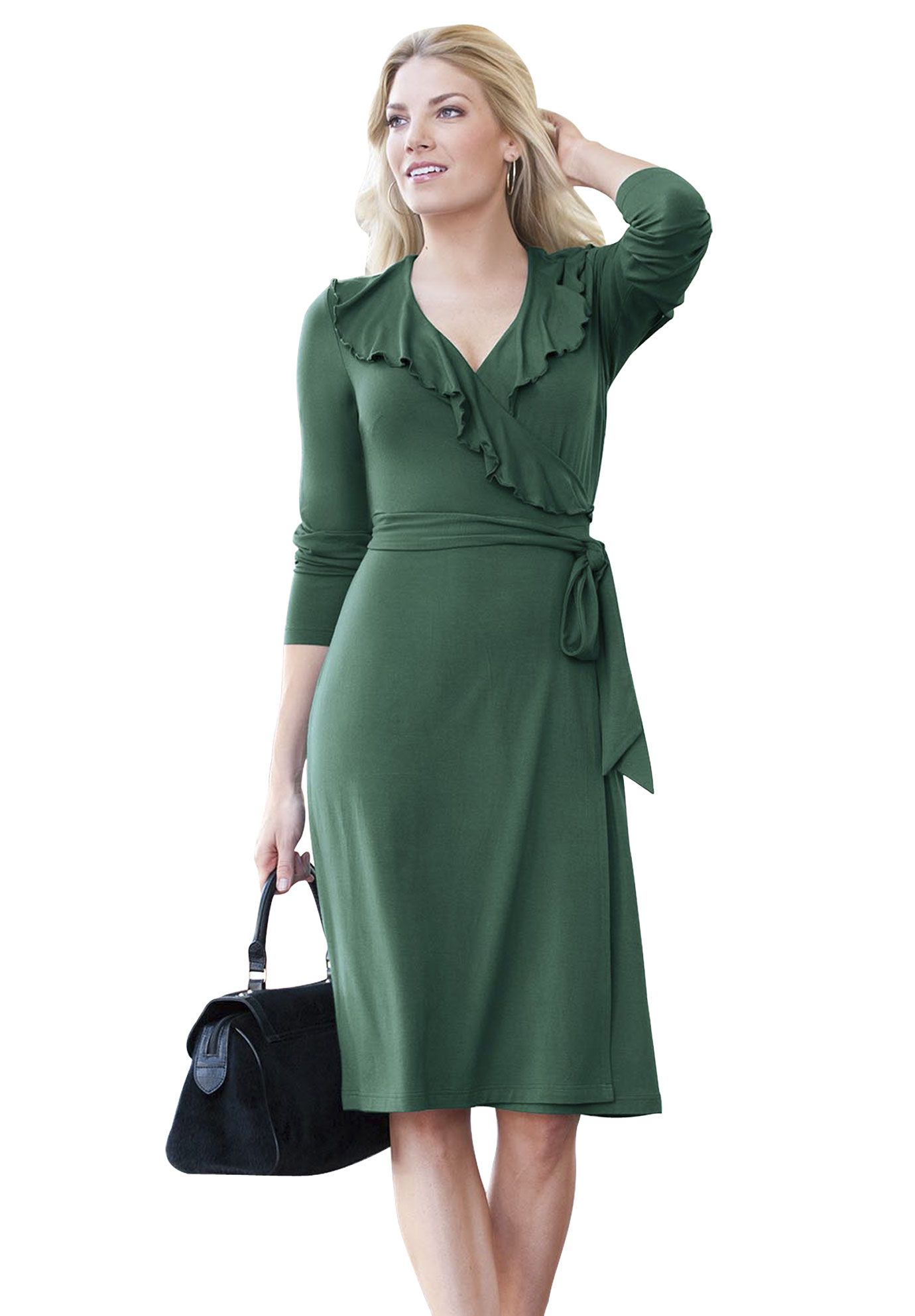 Plus Size Ruffled Wrap Dress Plus Size Work Dresses Jessica