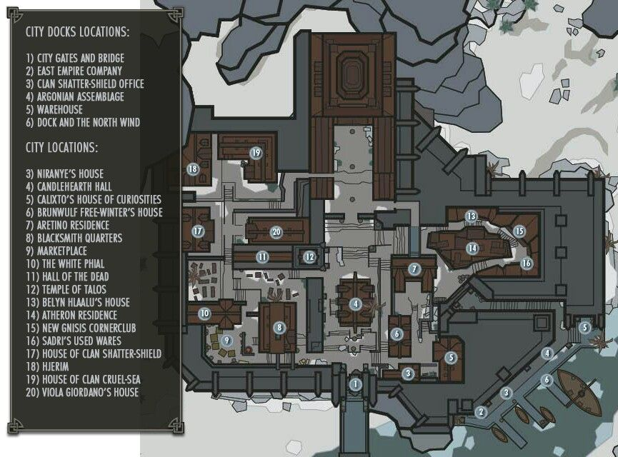 Windhelm Map   Dovahkiin   Skyrim map, Skyrim, Elder scrolls games on