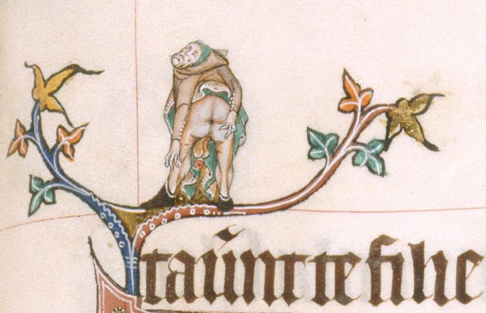 Gorleston Psalter, England 14th century (British Library, Additional 49622, fol. 61r)
