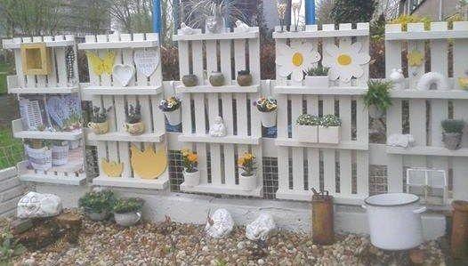 Faire un mur brise vue en bois de palettes | Idées pour la maison ...
