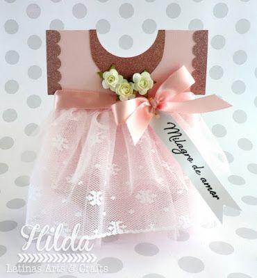 Hilda Designs: Girl Baby Shower Blog Hop, sello Latina Crafter, SnapDragon Snippets