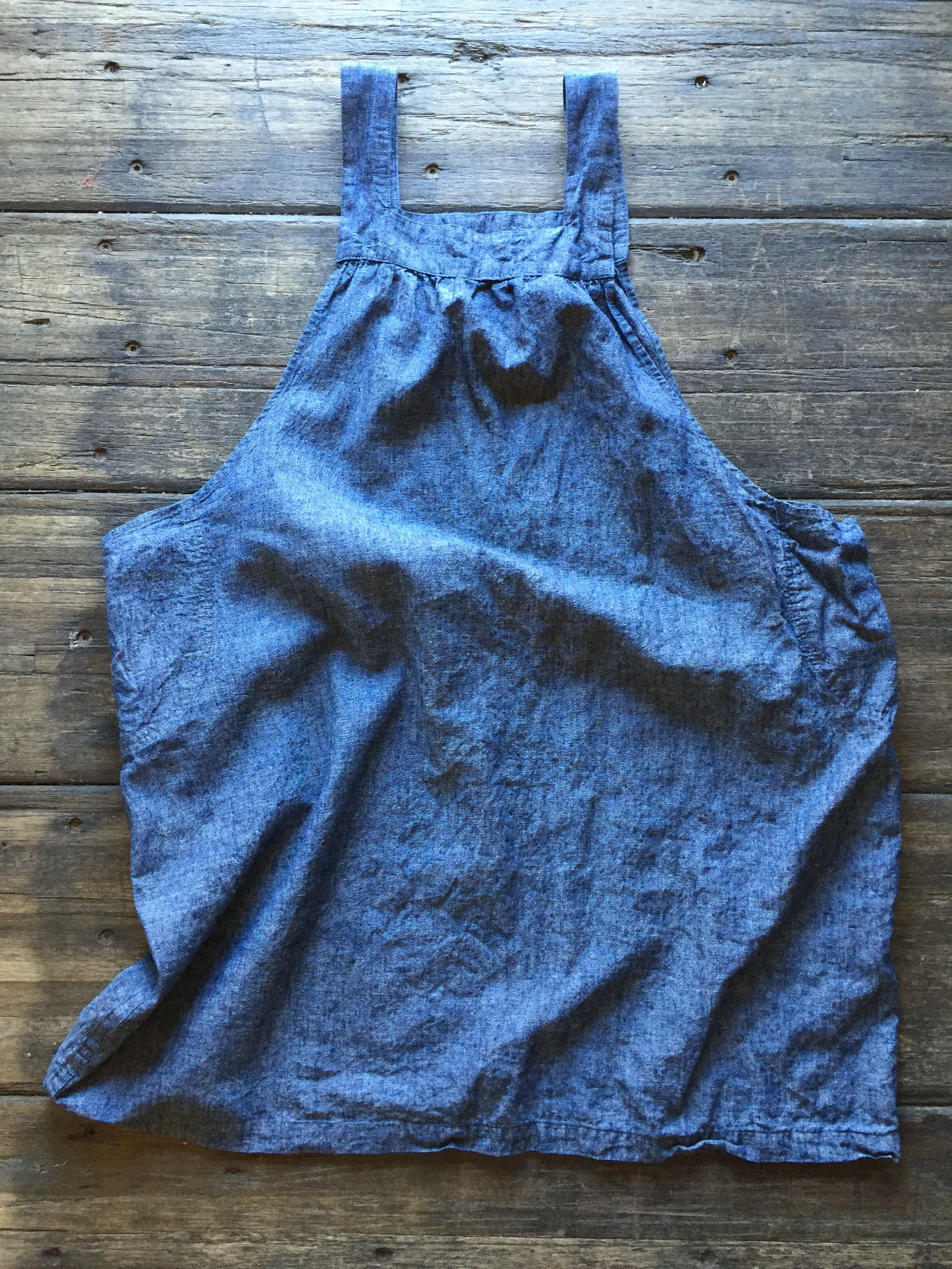 street smock in Nordic blue and natural linen   Street, Arms and ...