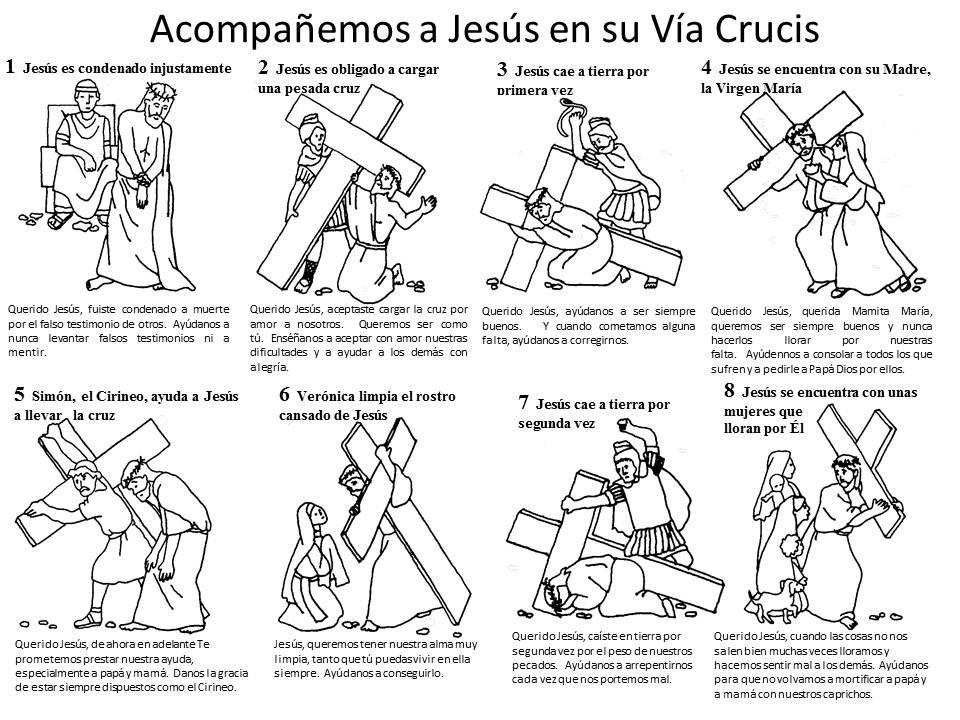 Viacrucis Para Ninos 1 2 Via Crucis Para Ninos Escuela