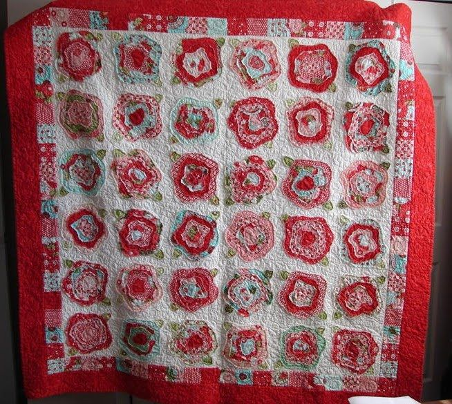 Sew Right: French Roses Quilt Pattern: A peek at what Kathy has ... : french roses quilt pattern free - Adamdwight.com