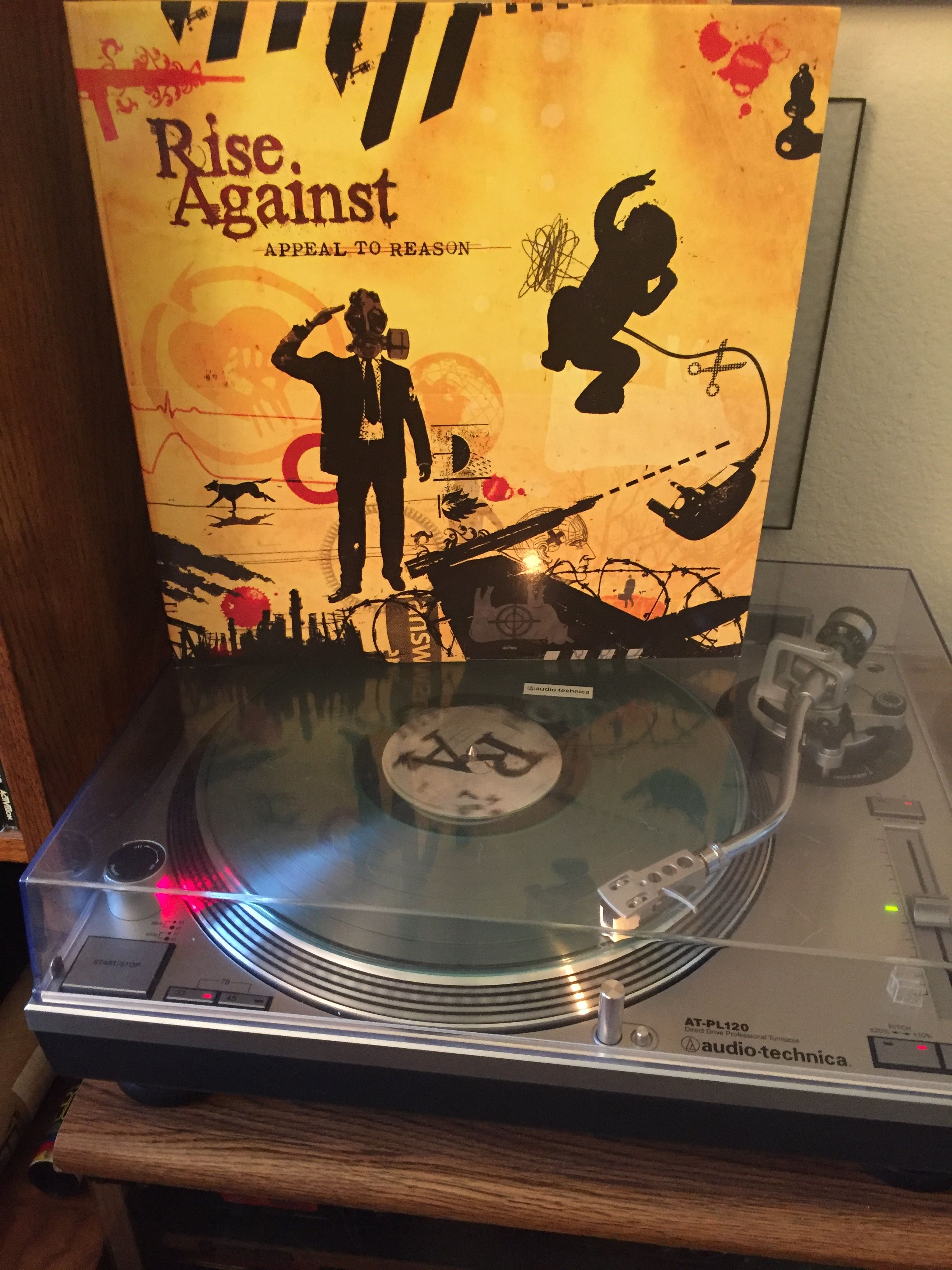Rise Against Appeal To Reason 2008 Clear Vinyl Coke Bottle Green Clear Vinyl Vinyl Rise Against